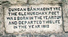 [Inscription on the Duncan Ban MacIntyre Memorial]